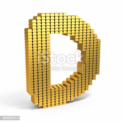 184385936 istock photo Gold Bars of text shape 509932314