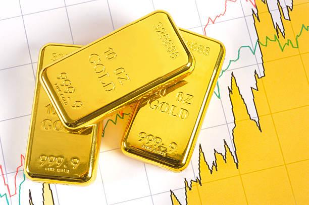 gold bars auf Flipchart – Foto