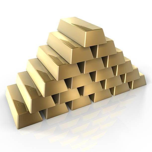 gold bars - aurum stock-fotos und bilder