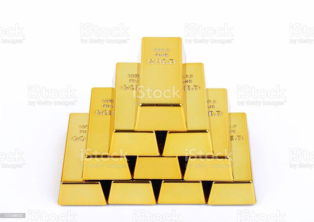 Gold bars royalty-free stock photo