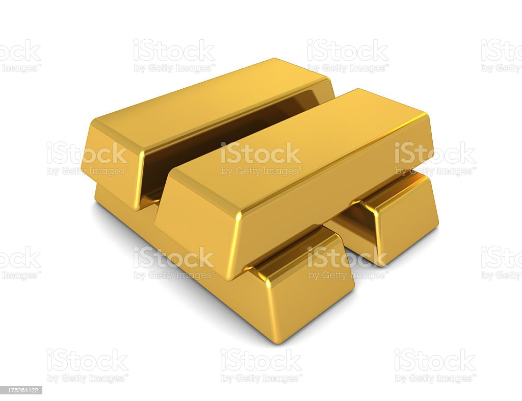 Gold Bars royalty-free stock photo