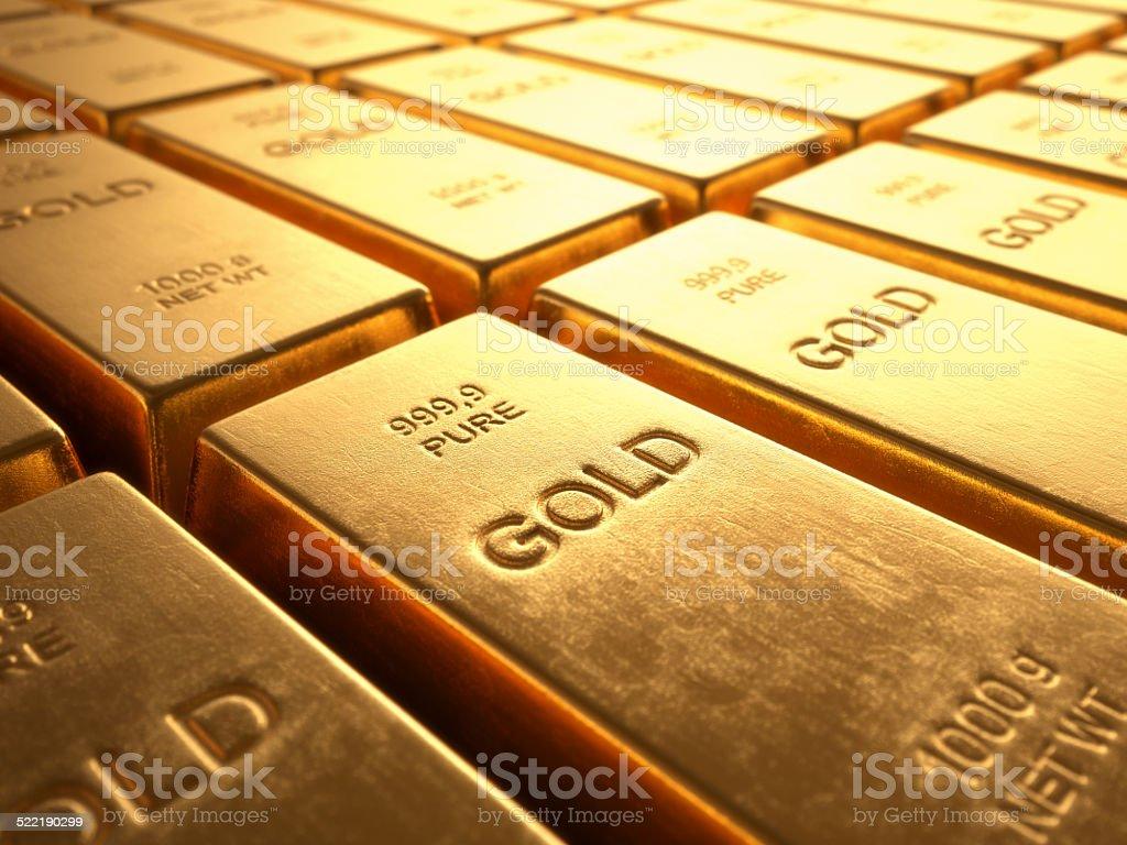 Barras de oro - foto de stock