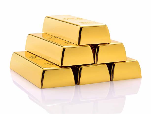 Barras de ouro  - foto de acervo
