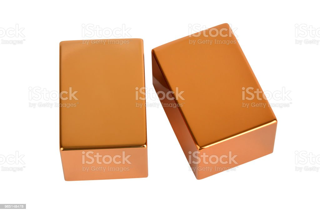 Gold bars with clipping path royalty-free stock photo