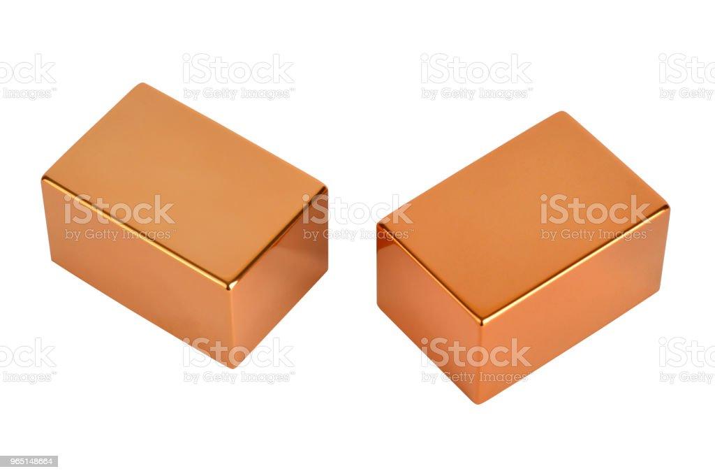 Gold bars with clipping path zbiór zdjęć royalty-free