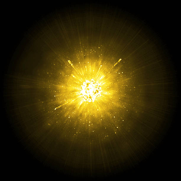Gold big explosion Gold big solar explosion background explosive stock pictures, royalty-free photos & images