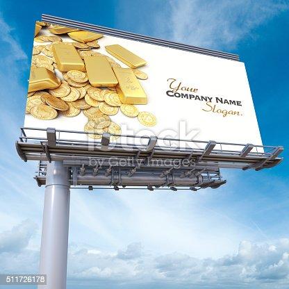 istock Gold billboard 511726178