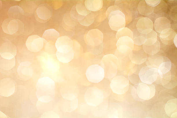 Gold Bokeh Background. The background with boke. stock photo