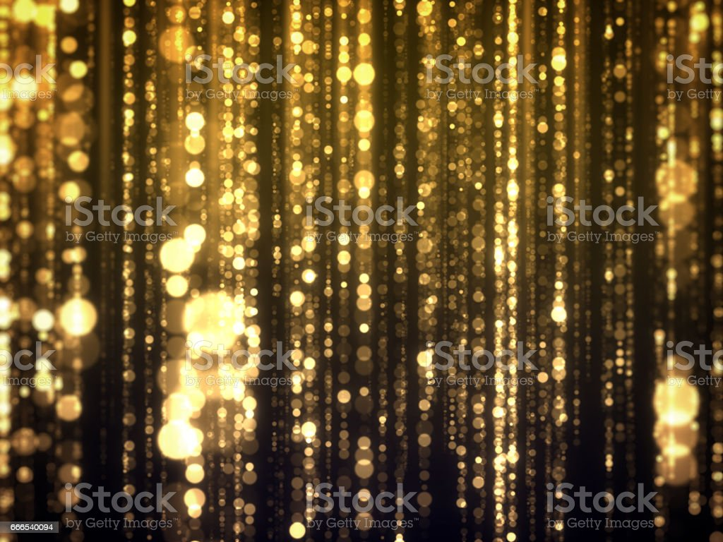 Gold Bokeh Falling Glamour Abstract Background stock photo