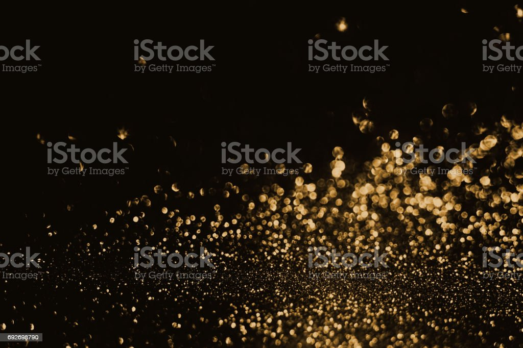 Gold Bokeh Light Abstract Background stock photo