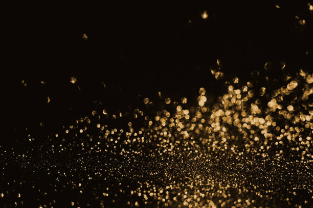 gold bokeh light abstract background - focus on background stock photos and pictures