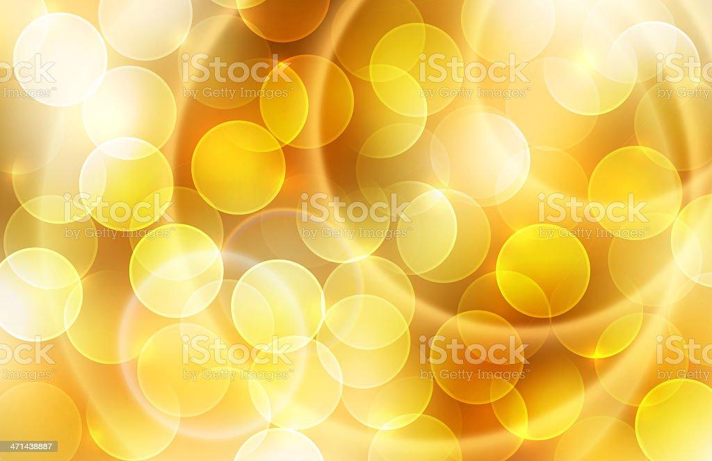 Gold bokeh. royalty-free stock photo