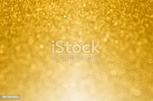 istock Gold Bokeh Sparkle Background for Happy Birthday or Wedding Anniversary 942853634