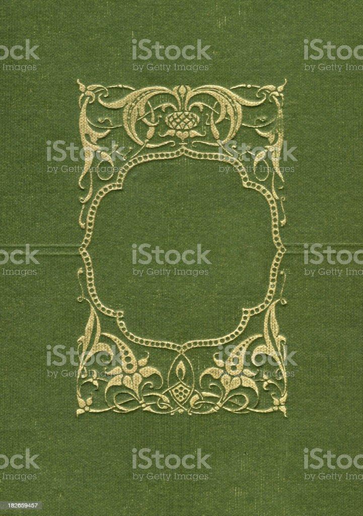 Gold Border on Green royalty-free stock photo