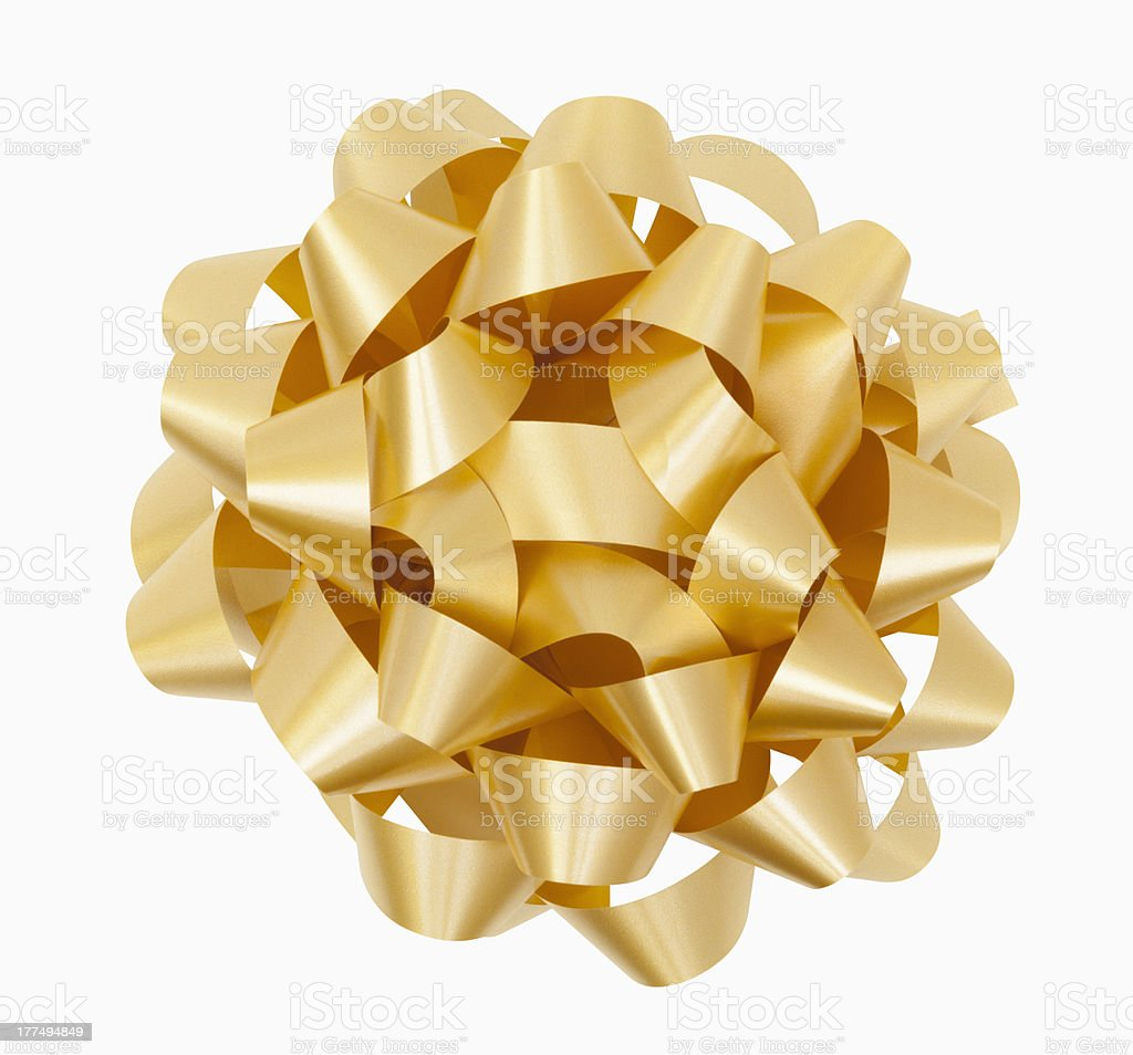 Gold Bow royalty-free stock photo