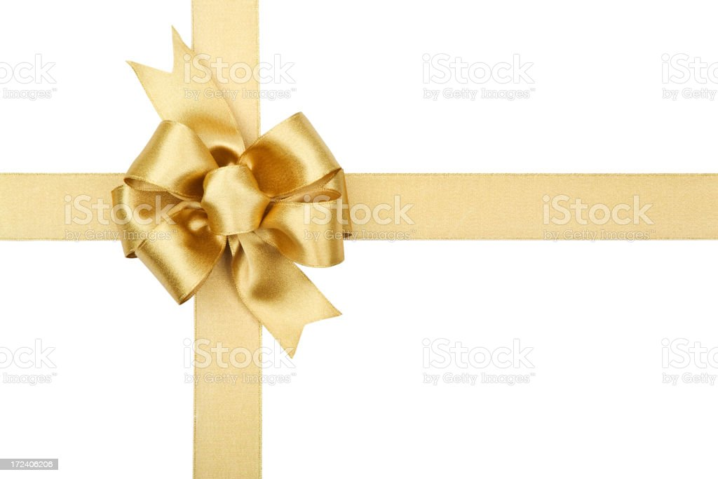 Gold Bow Series (CLIPPING PATH XL) stock photo