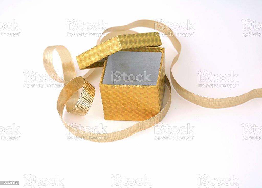 Gold Box royalty-free stock photo