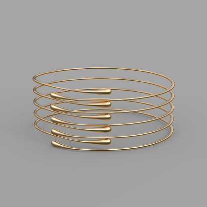 1149145638 istock photo Gold Bracelet Waterdrop design 1148039348