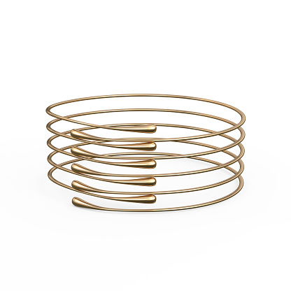 1149145638 istock photo Gold Bracelet Waterdrop design 1148039349