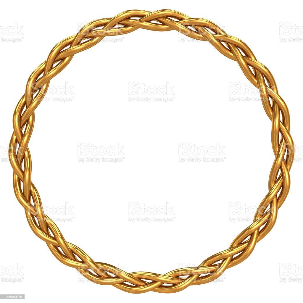 Gold braided circle stock photo