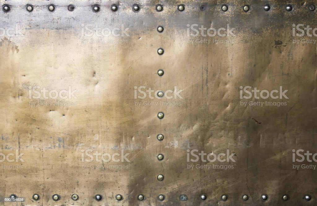 Gold brass metal stock photo