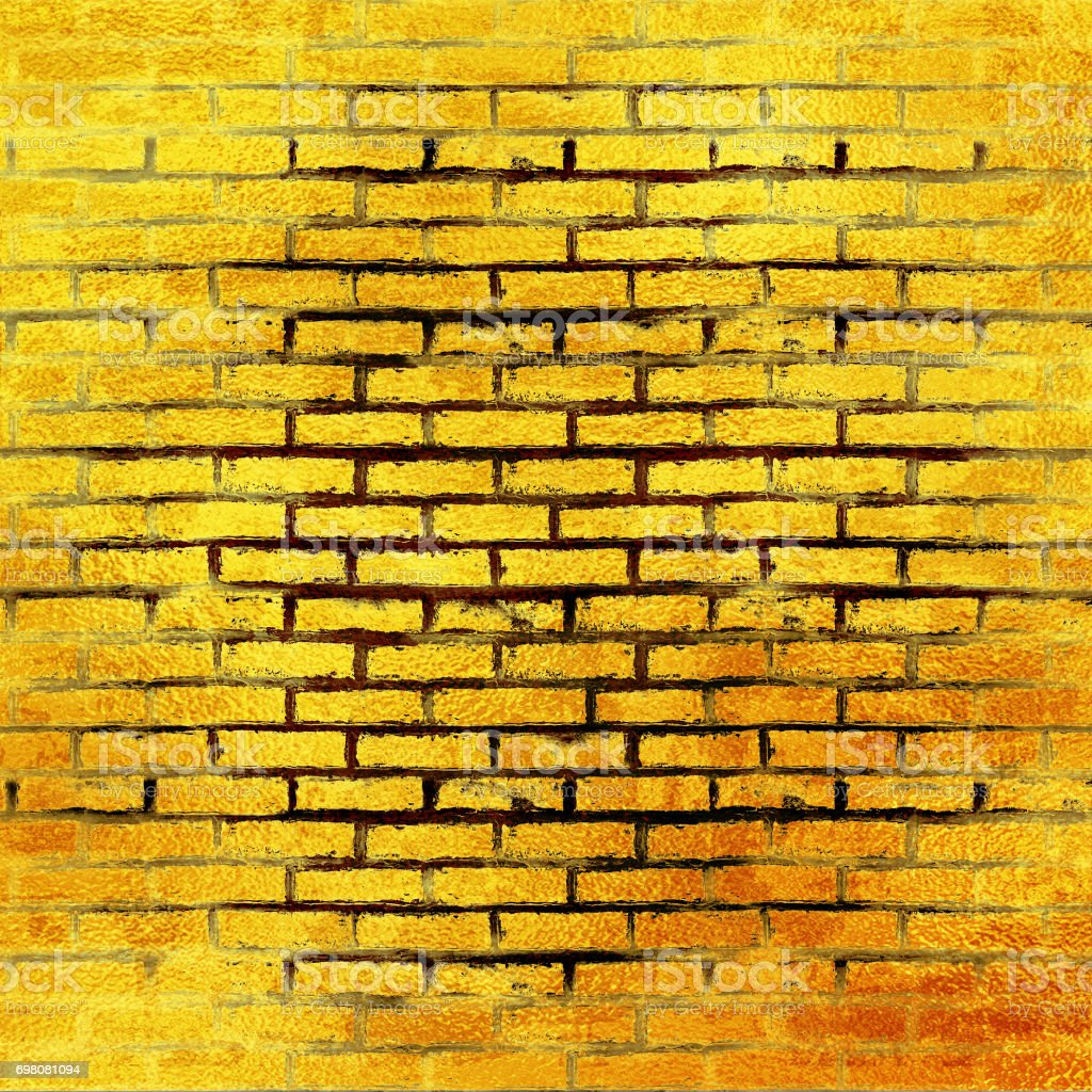 Gold Brick Wall Texture Or Background A Wall Of Shiny Gold Blocks ...