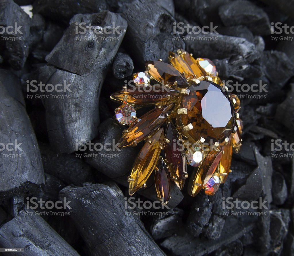 gold Brooch royalty-free stock photo