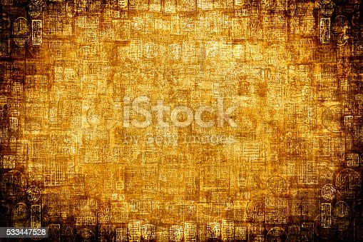 istock Gold Brown Hieroglyphic Background 533447528