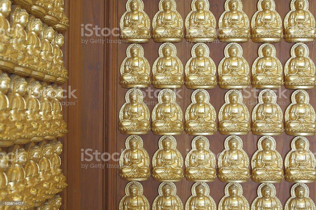 Gold buddha doll royalty-free stock photo