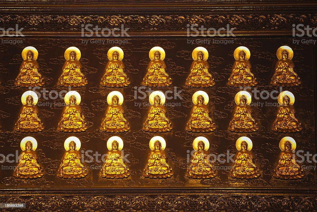 gold Buddha statue royalty-free stock photo