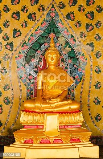 istock Gold Buddha Statue 502003165