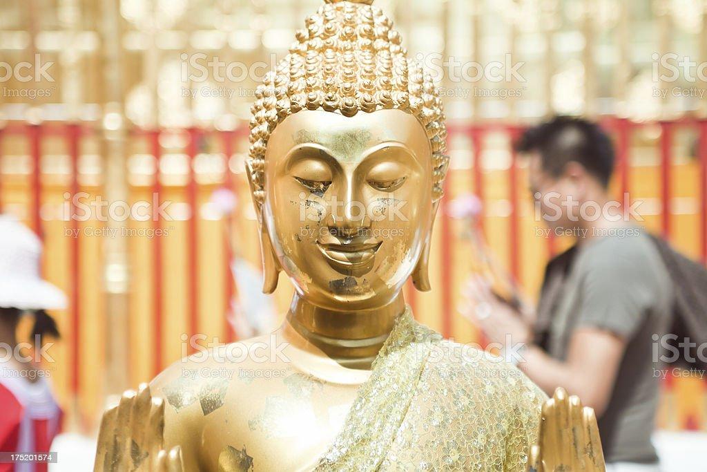 Gold Buddhist Statue royalty-free stock photo