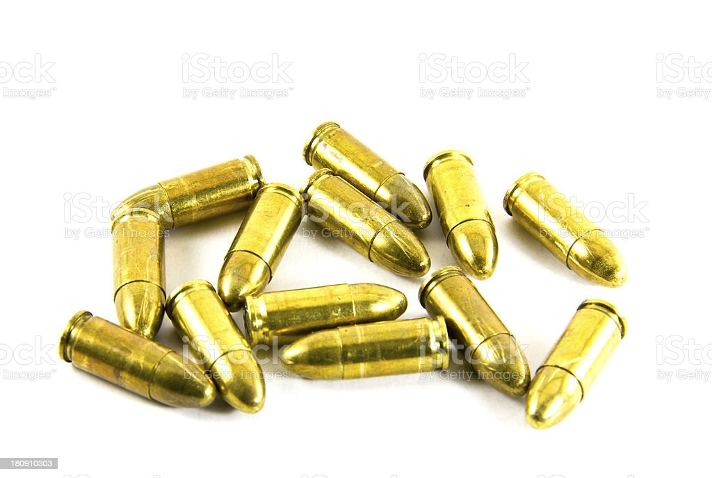 gold bullets royalty-free stock photo