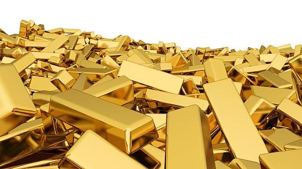 Ouro metal precioso - foto de acervo