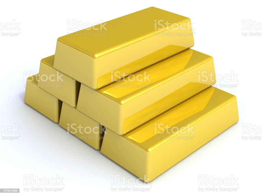 Gold bullions royalty-free stock photo