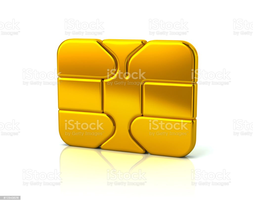 Gold business credit debit card bank ATM chip stock photo
