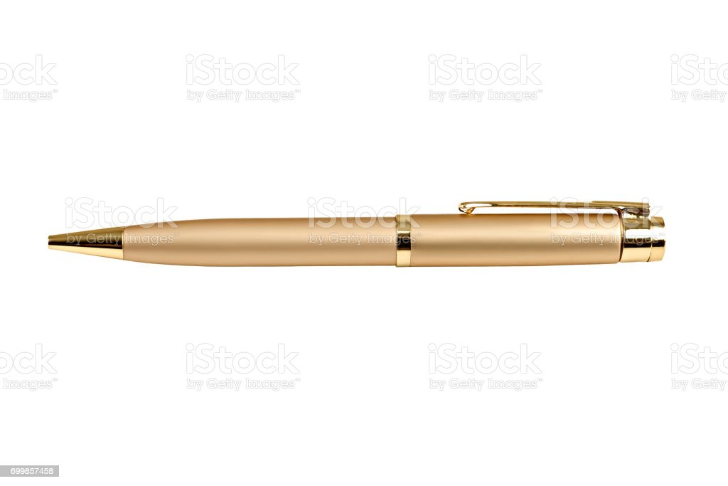 Gold business pen stock photo