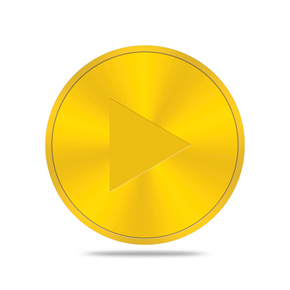 istock gold button with forward icon 468270728
