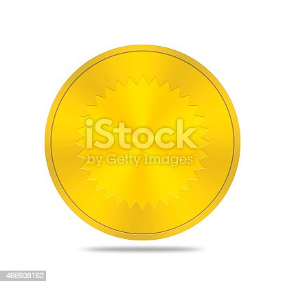 istock gold button with seal icon 466938162