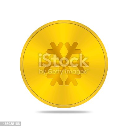 istock gold button with snow icon 466938166