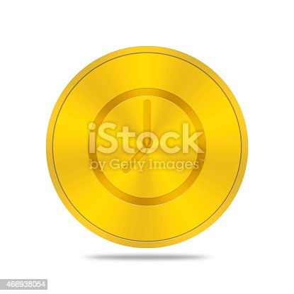 istock gold button with time icon 466938054
