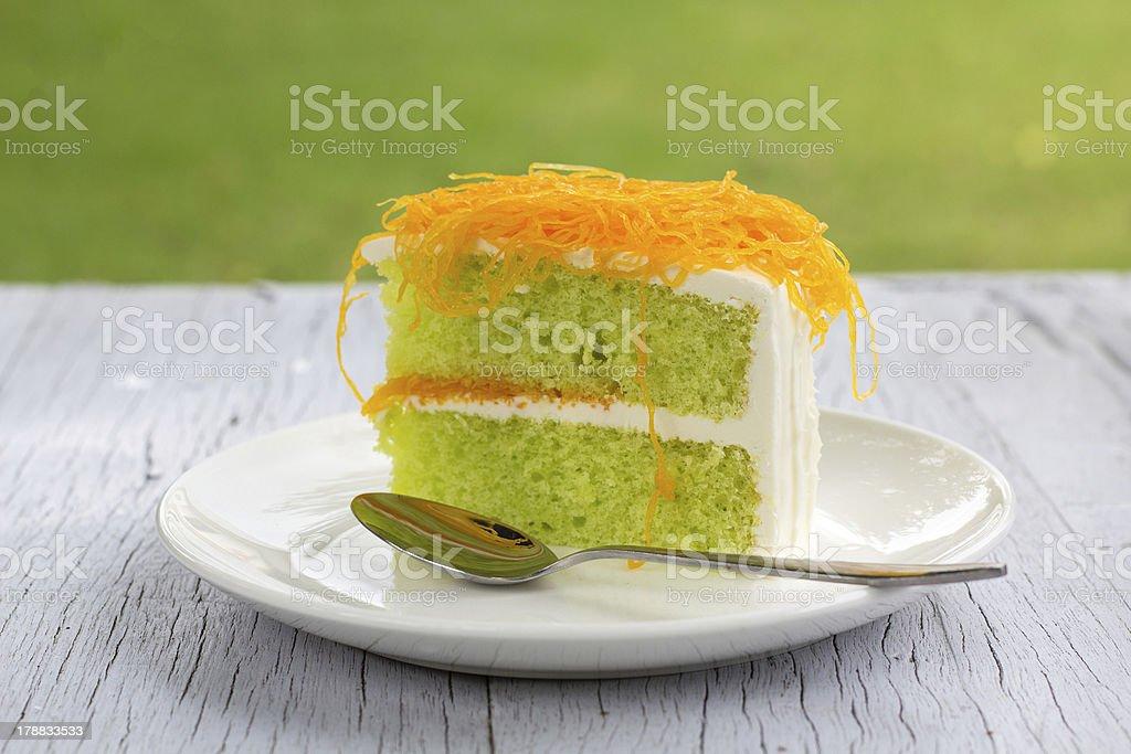 gold cake royalty-free stock photo
