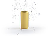 Gold Can Mockup