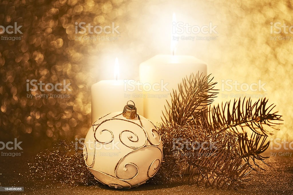 Gold Candlelight royalty-free stock photo