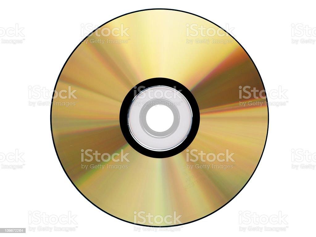 gold cdrom isolated stock photo