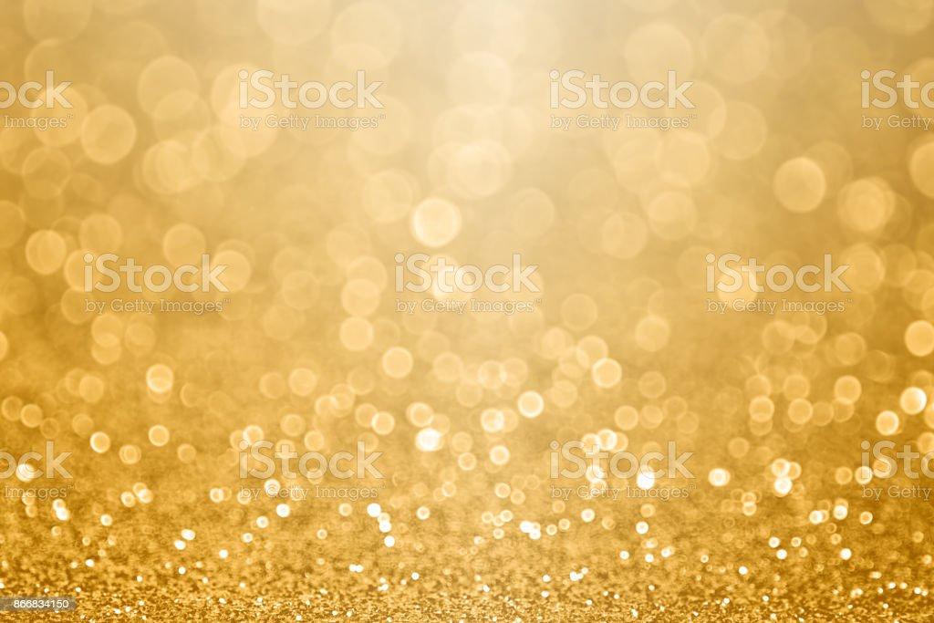 Goldfeier Hintergrund Zum Jubilaum Silvester Weihnachten Fallen