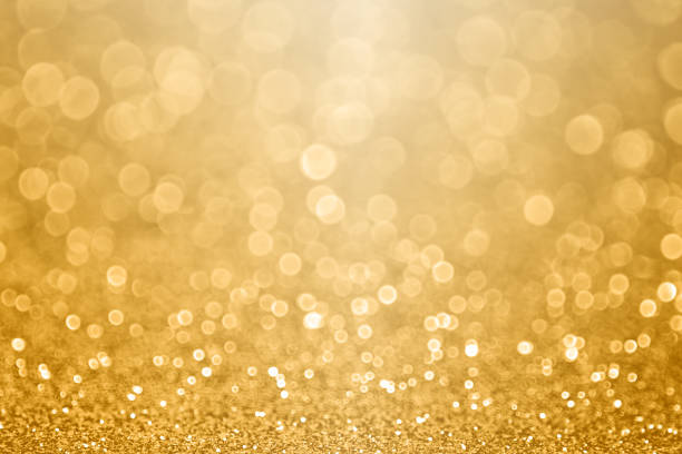 Gold celebration background for anniversary, New Year Eve, Christmas, falling coins, wedding or birthday - foto stock