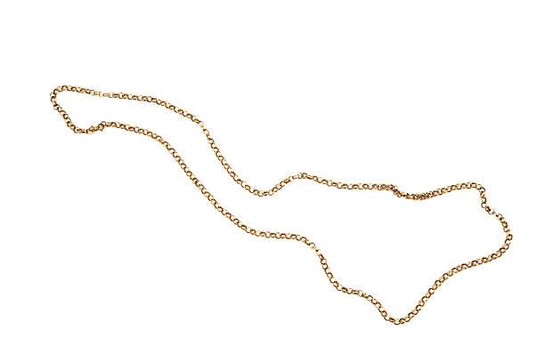 золотая цепь - ожерелье стоковые фото и изображения