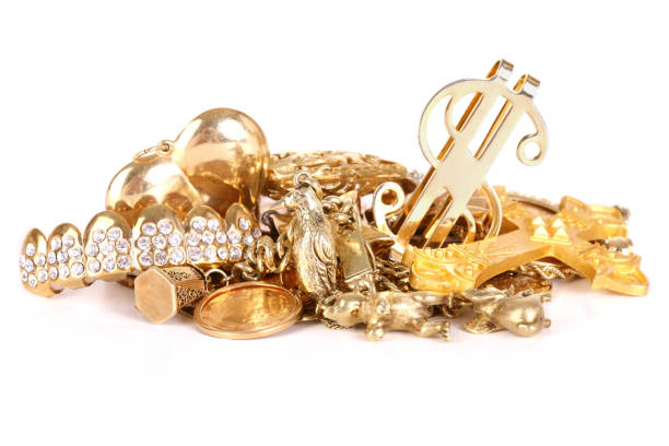 gold charms - gold tooth stock photos and pictures