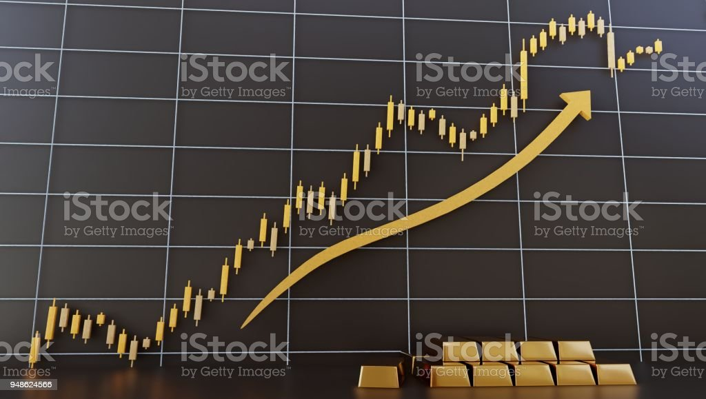 Gold Chart For Trading And Exchange 3d Rendering Stock Photo More